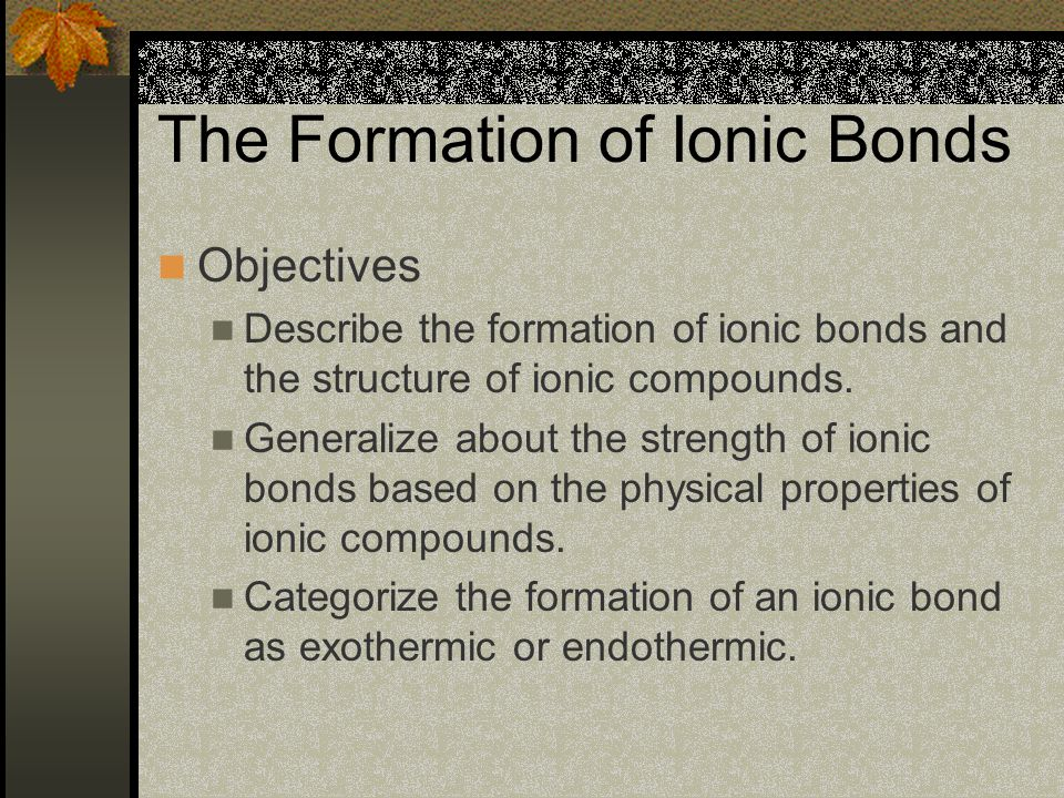 The formula, NaCl, is an empirical formula – through the subscripts, it gives the smallest possible ratio of ions – 1 Na + to 1 Cl - This ratio is determined by the number of electrons transferred in ionic bonding