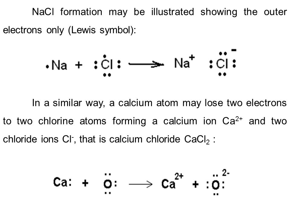 In sodium chloride, the ionic bonds are not only between a pair of sodium ion Na + an chlorine ion Cl -, but also between all the ions.