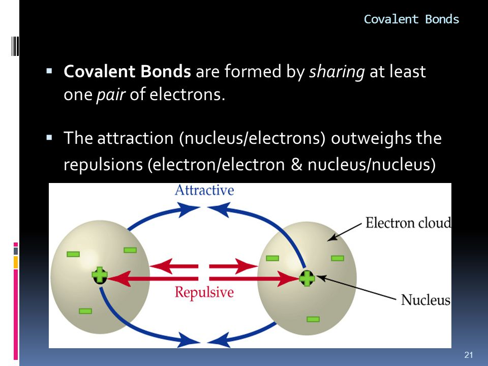 Covalent Bonds  Covalent Bonds are formed by sharing at least one pair of electrons.