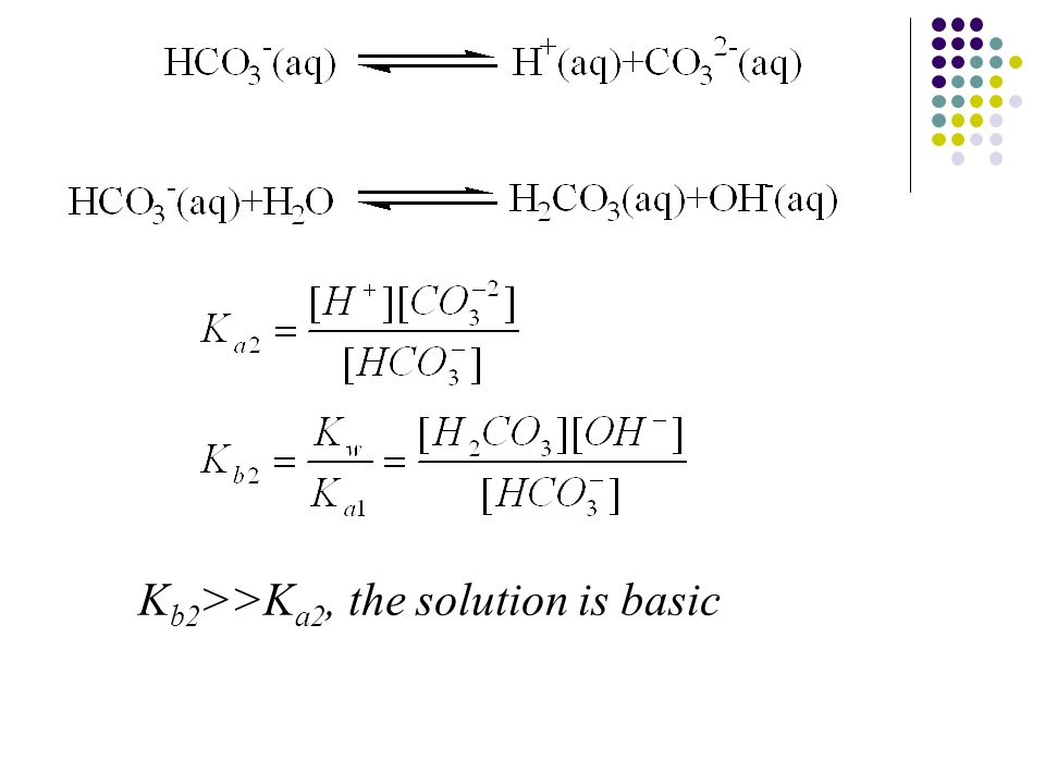 K b2 >>K a2, the solution is basic