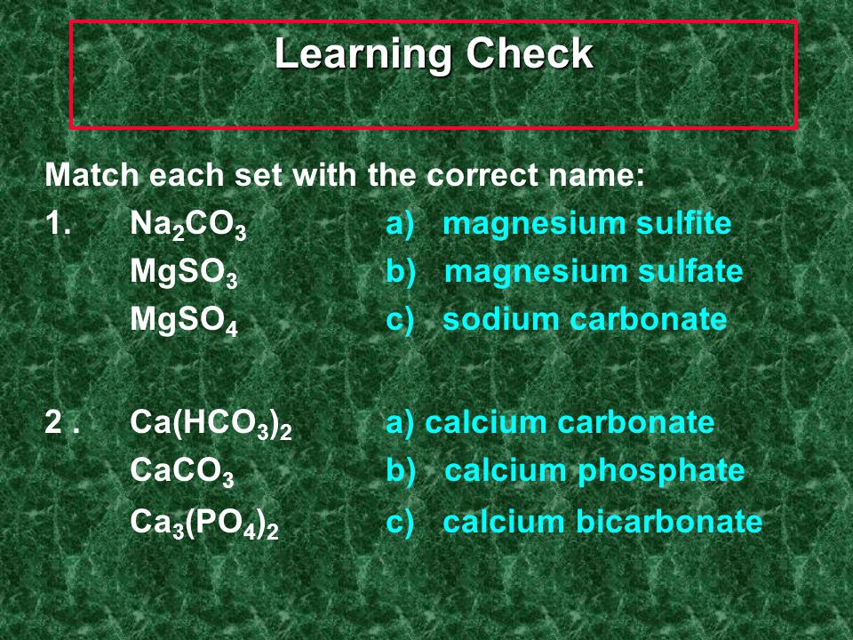 Naming Ternary Compounds Contains at least 3 elements There MUST be at least one polyatomic ion (it helps to circle the ions) Examples: NaNO 3 Sodium