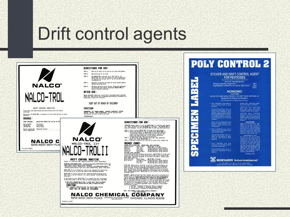 Drift control agents