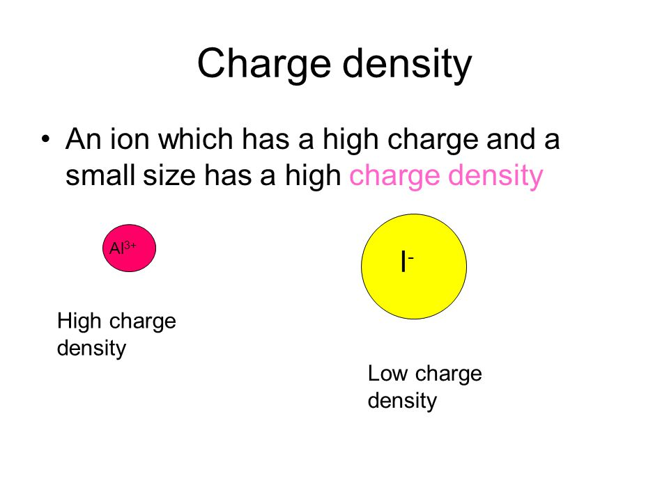 Small ions are strongly attracted to other ions and to water molecules because they can get close Water molecule