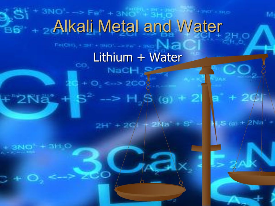 Alkali Metal and Water Lithium + Water