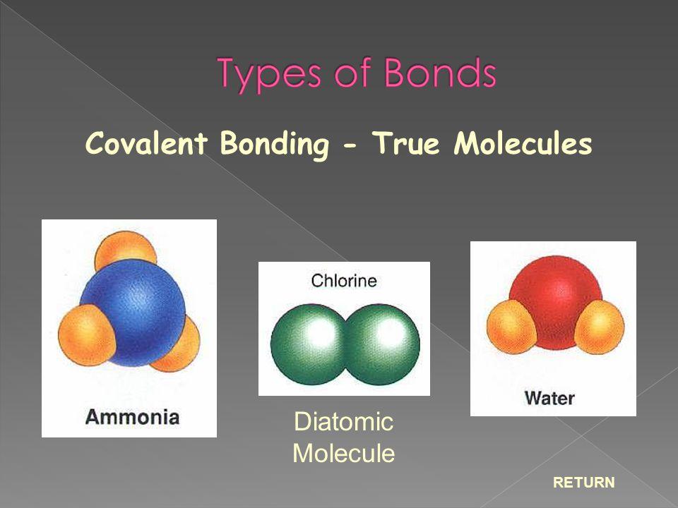 Covalent Bonding - True Molecules RETURN Diatomic Molecule