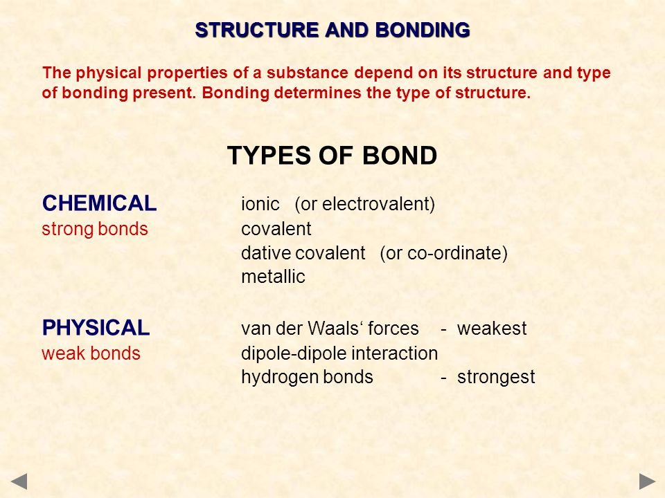 DIAMOND MELTING POINT VERY HIGH many covalent bonds must be broken to separate atoms STRENGTH STRONG each carbon is joined to four others in a rigid structure Coordination Number = 4 ELECTRICAL NON-CONDUCTOR No free electrons - all 4 carbon electrons used for bonding