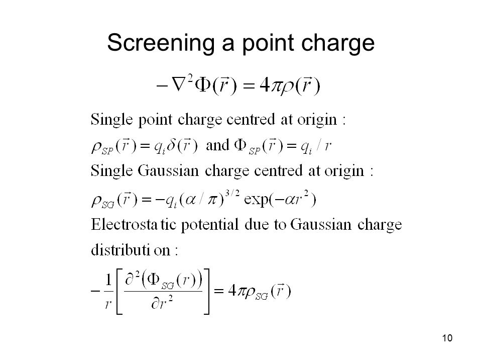 10 Screening a point charge