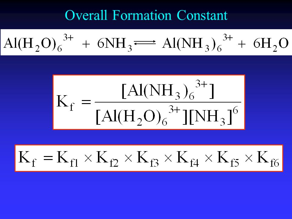 Overall Formation Constant