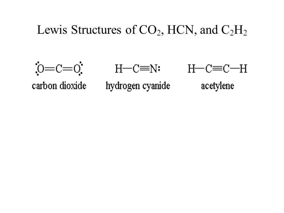 Lewis Structures of CO 2, HCN, and C 2 H 2