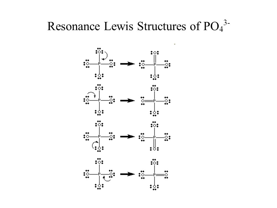 Resonance Lewis Structures of PO 4 3-