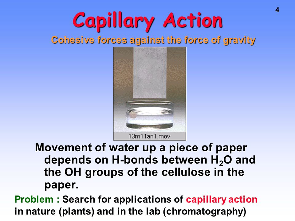 5Liquids High surface tension due to cohesive forces stronger than adhesive forces with the glass leads to the existence of a convex meniscus for a column of mercury in a glass tube.