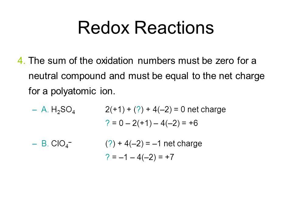 Redox Reactions 4.