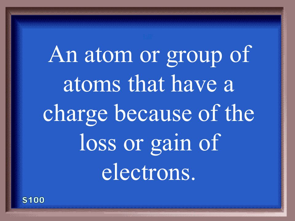 2-500A 1 - 100 What is a molecule