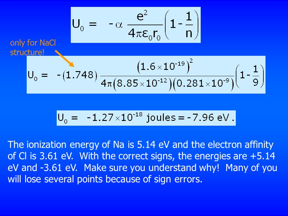 only for NaCl structure.