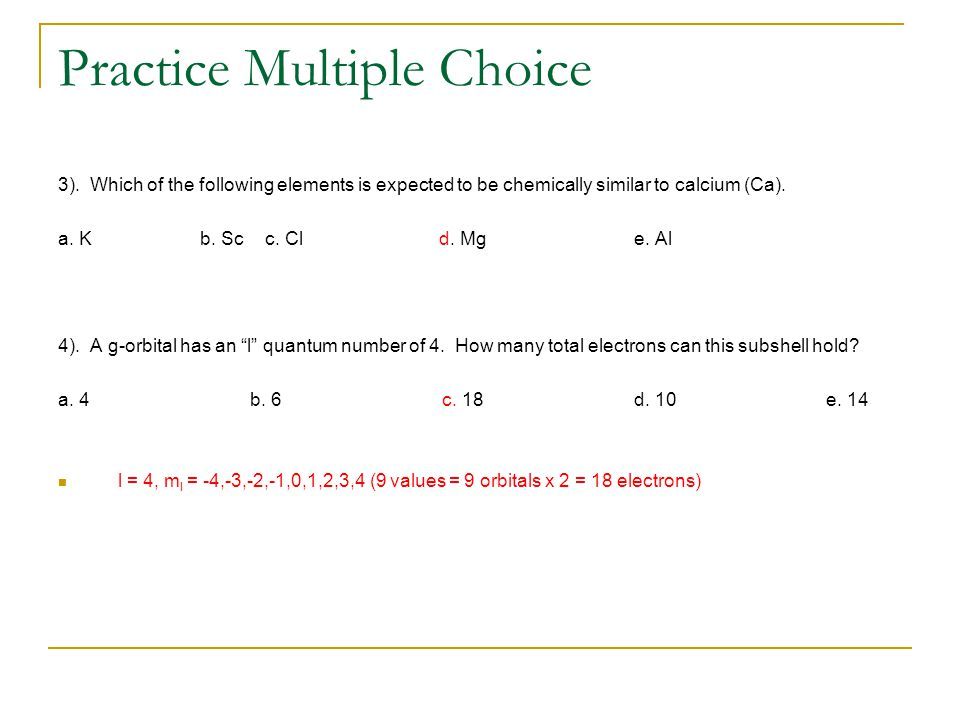 Practice Multiple Choice 3).