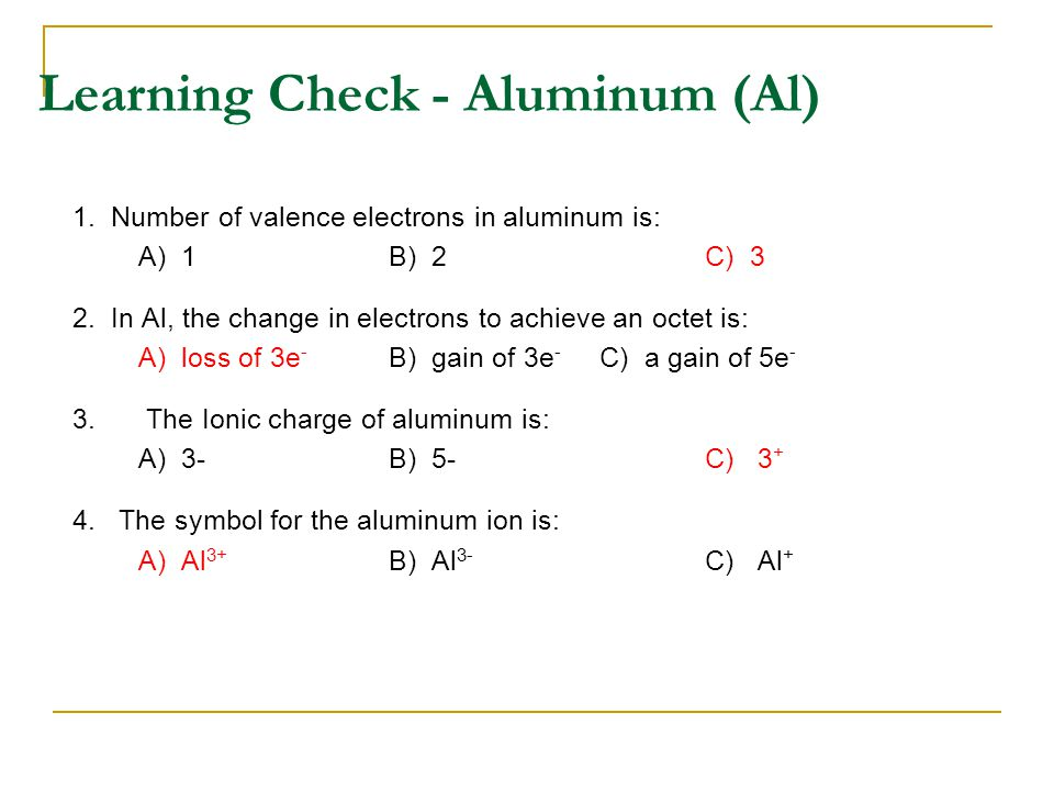 Write the Lewis Dot Diagrams and give the chemical formulas for the ionic compounds formed between the following elements  Na and O  Ca and O  Al and O