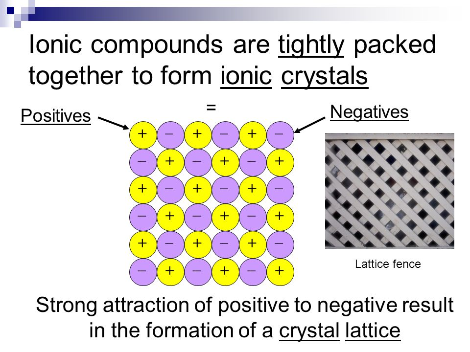 So, what makes a bond ionic? 1. Electrons are transferred 2. Usually involves a metal (+) and non- metal (-) Opposite sides of the table 3. Products a