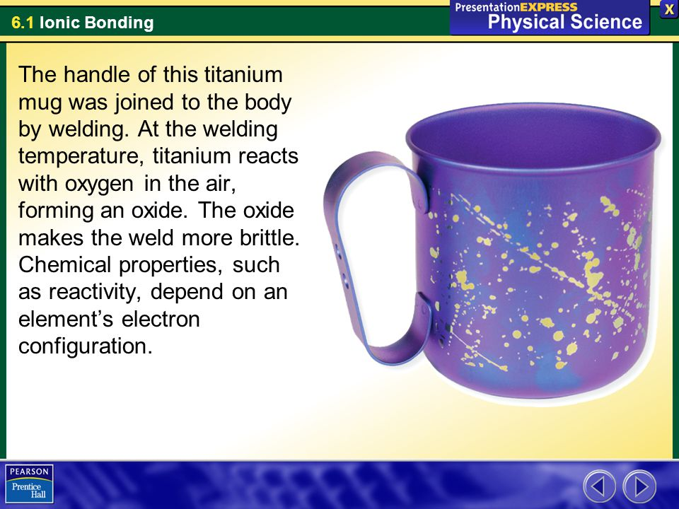 6.1 Ionic Bonding When is an atom unlikely to react.