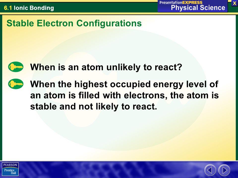6.1 Ionic Bonding Ionic Bonds 5.