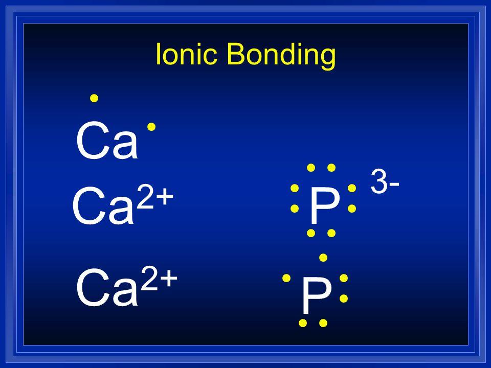 Ionic Bonding Ca 2+ P 3- Ca 2+ P