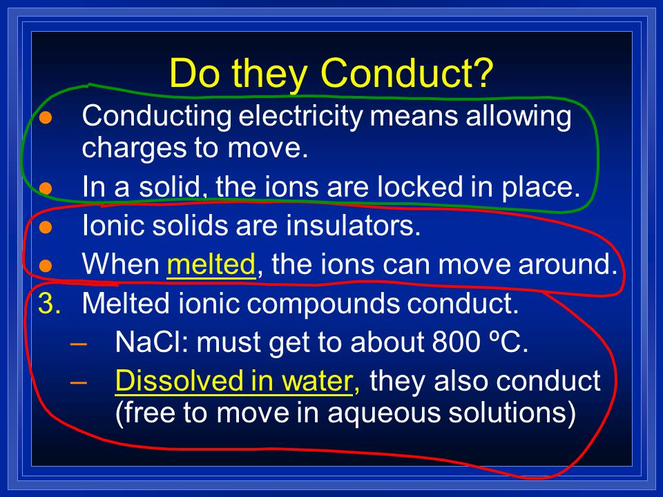 Slide 52 of 25 © Copyright Pearson Prentice Hall Ionic Bonds and Ionic Compo unds > Properties of Ionic Compounds The orderly arrangement of component
