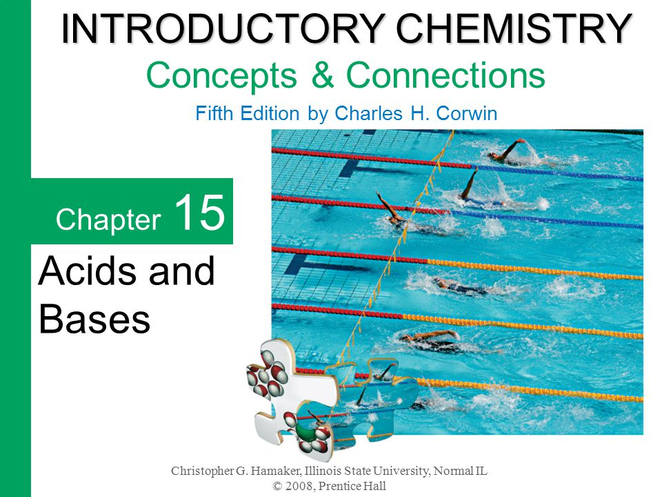 Chapter 15 2 An acid is any substance that releases hydrogen ions, H +, into water.
