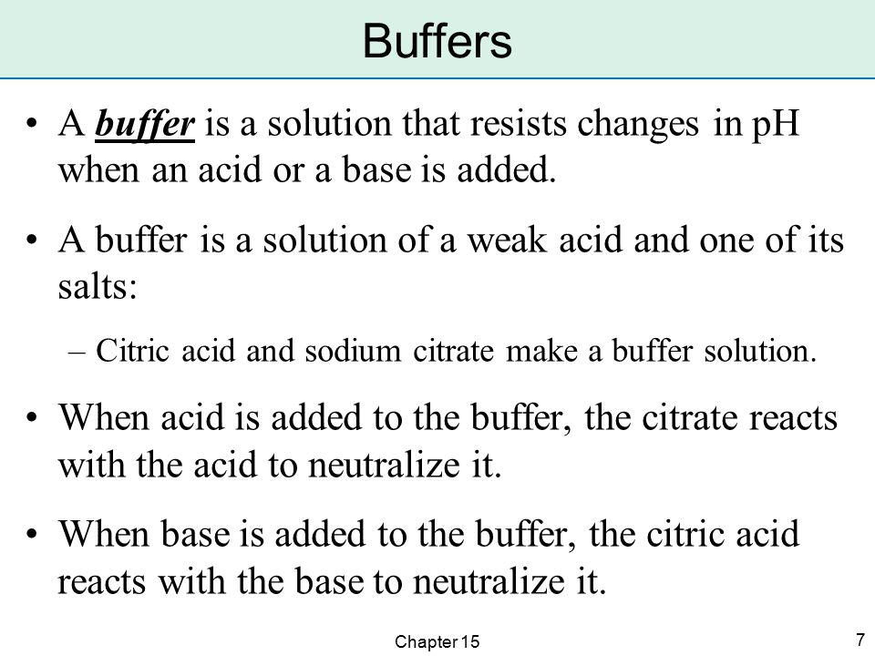 Chapter 15 38 Weak acids and bases are weak electrolytes.