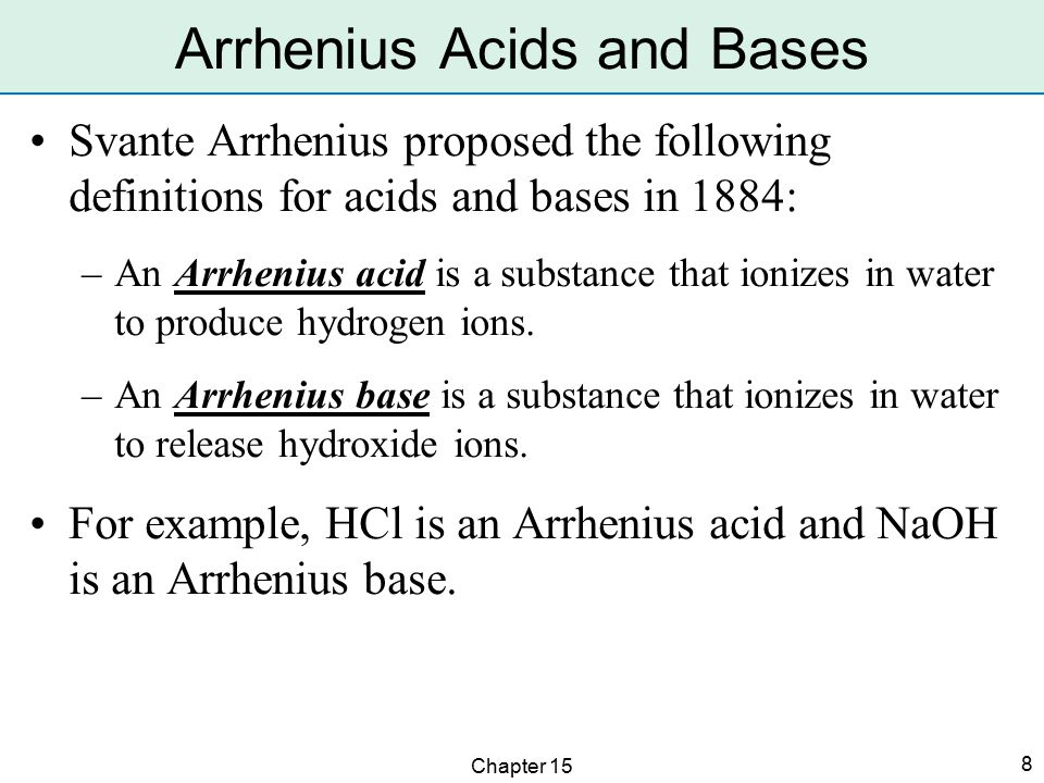 Chapter 15 9 Acids have varying strengths.