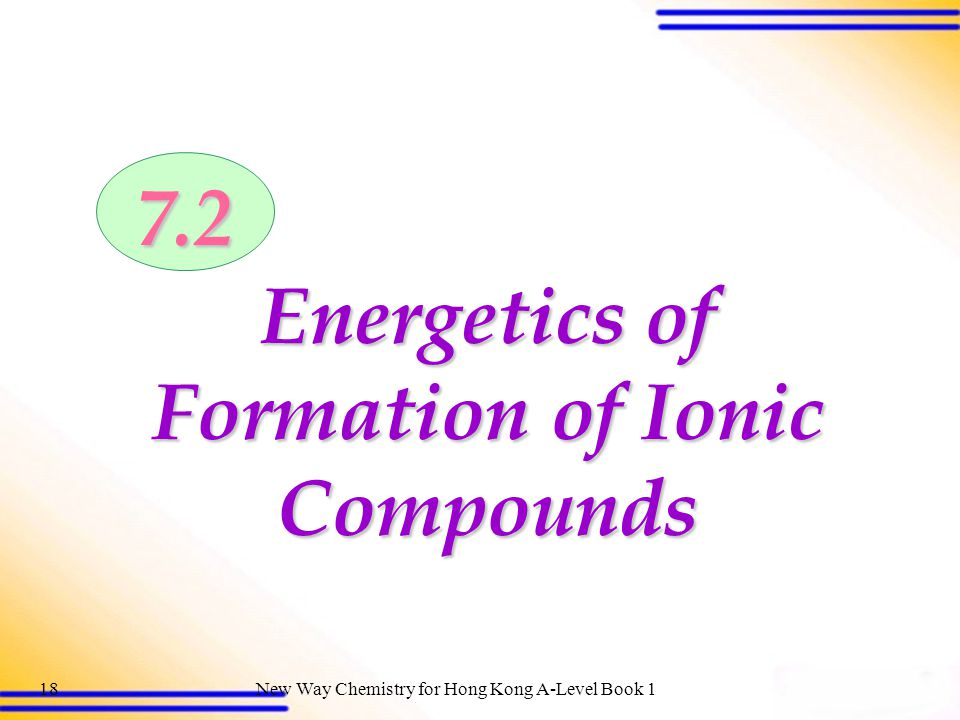 New Way Chemistry for Hong Kong A-Level Book 117 Electron transfer from a magnesium atom to two chlorine atoms Electron transfer from two lithium atoms to an oxygen atom 7.1 Formation of Ionic Bonds: Donating and Accepting Electrons (SB p.188)