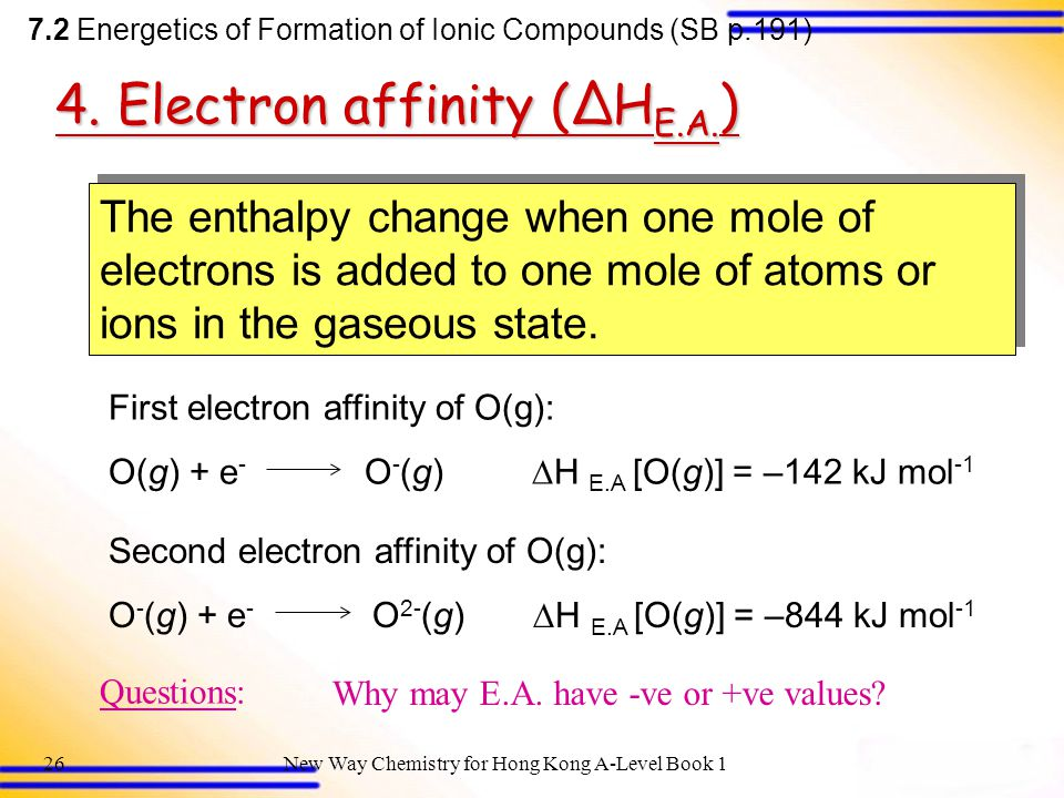 New Way Chemistry for Hong Kong A-Level Book 125 Questions:Why are the changes endothermic.