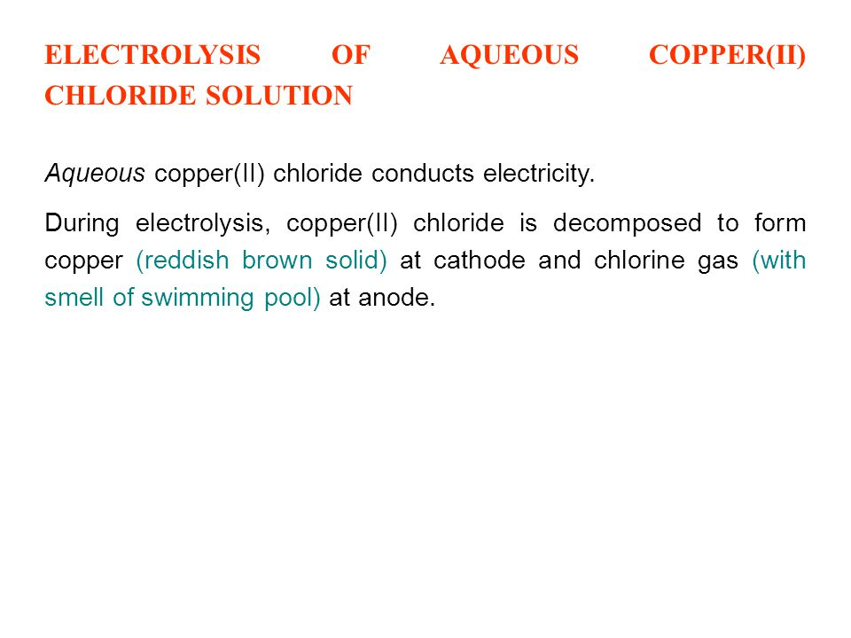 Conclusions Ionic compounds in molten or aqueous states can conduct electricity. It is because there are mobile ions. Ionic compounds in solid state c