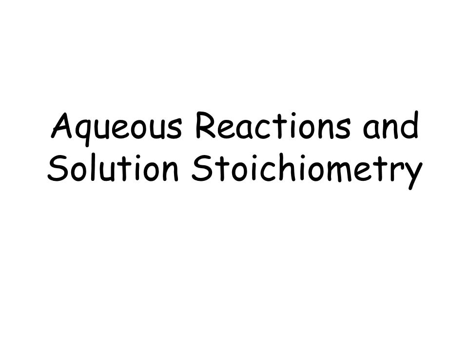 Aqueous Solutions Aqueous solutions are solutions in which water does the dissolving.