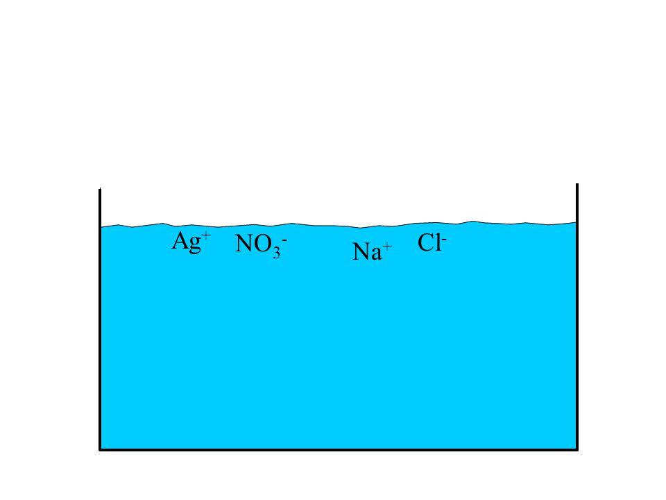 Ag + NO 3 - Na + Cl -
