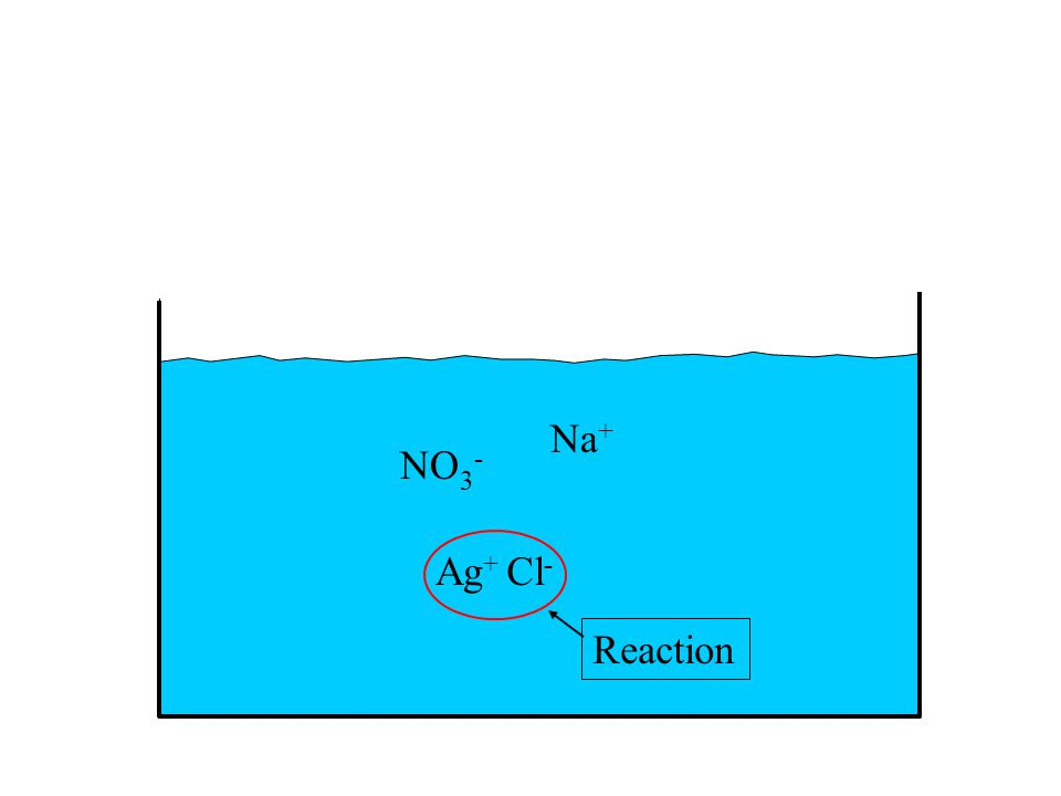 Ag + Cl - NO 3 - Na + Reaction