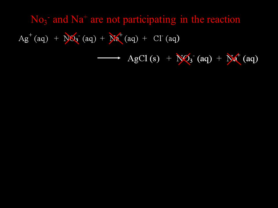 No 3 - and Na + are not participating in the reaction