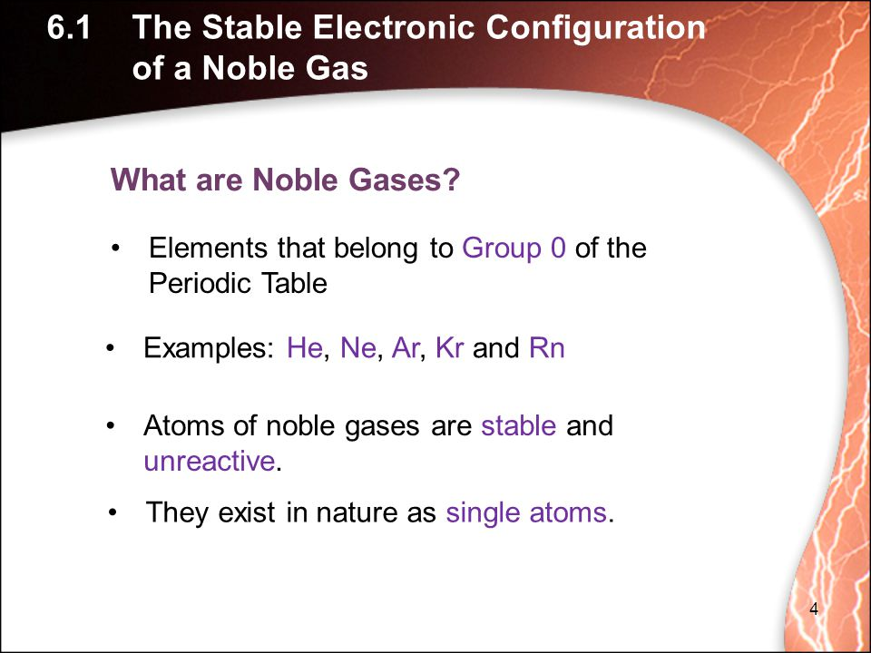 What are Noble Gases.