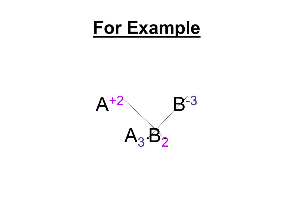 For Example A +2 B -3 A 3 B 2