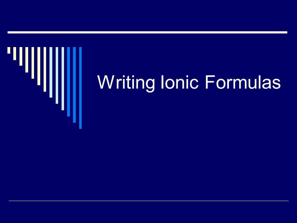 Ionic Compounds  Things you should know: Ionic = metal-nonmetal combo of elements Metal: loses e- to become stable; positive ions Nonmetal: gains e- to become stable; negative ions The charge value (1, 2, or 3) depends on how many e- were lost or gained.