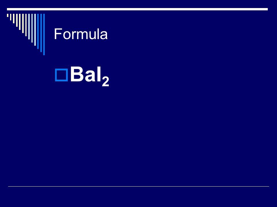 Formula  BaI 2