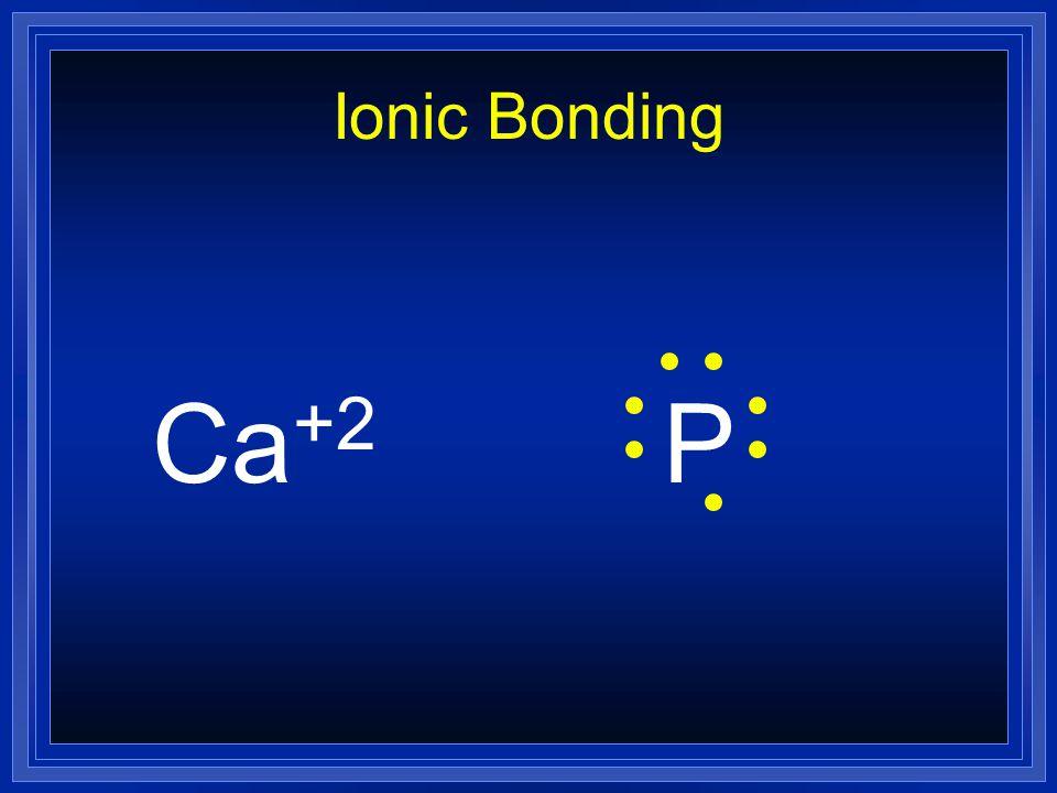 Ionic Bonding Ca +2 P