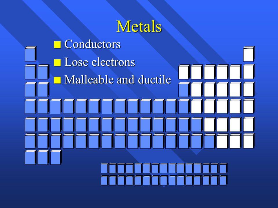 Nonmetals n Brittle n Gain electrons n Covalent bonds