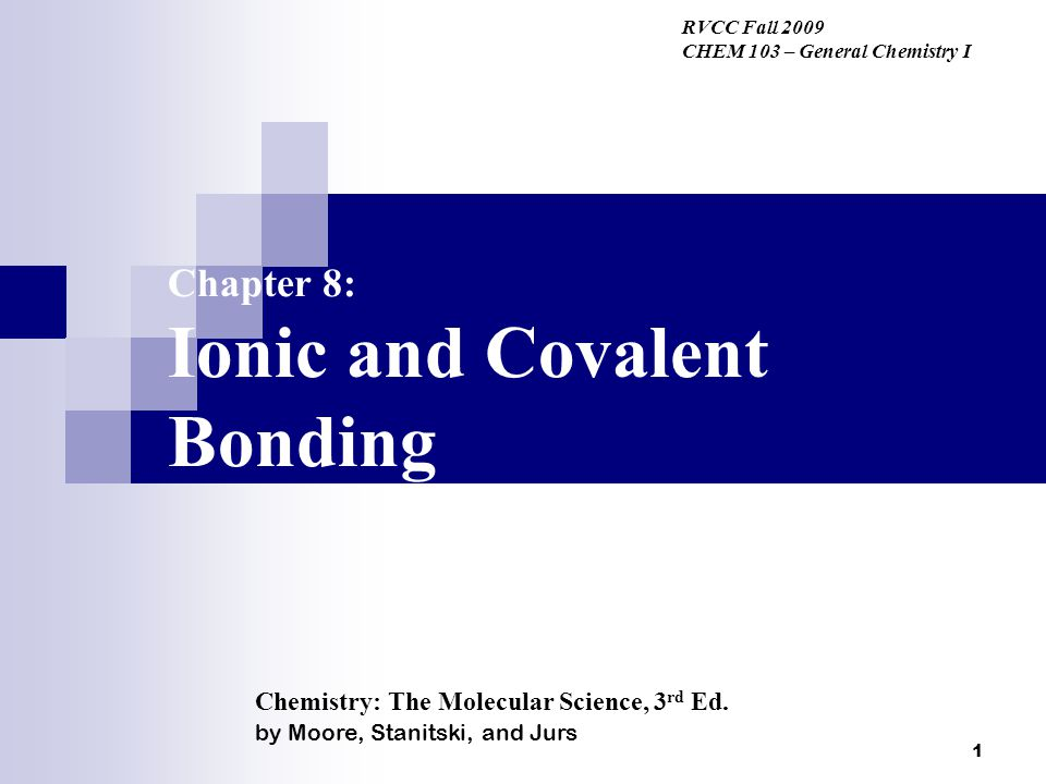 2 Bonding – What holds atoms together.