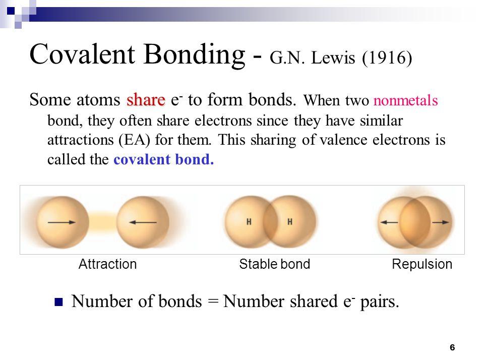 7 Covalent Bonds H.. : HHH + H2H2
