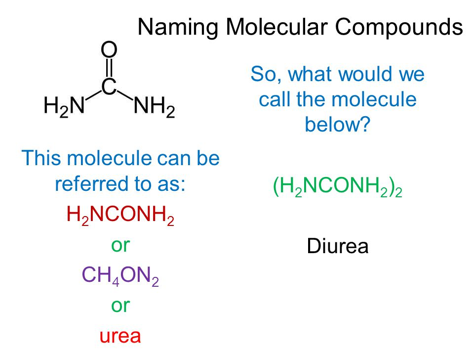 So, what would we call the molecule below.