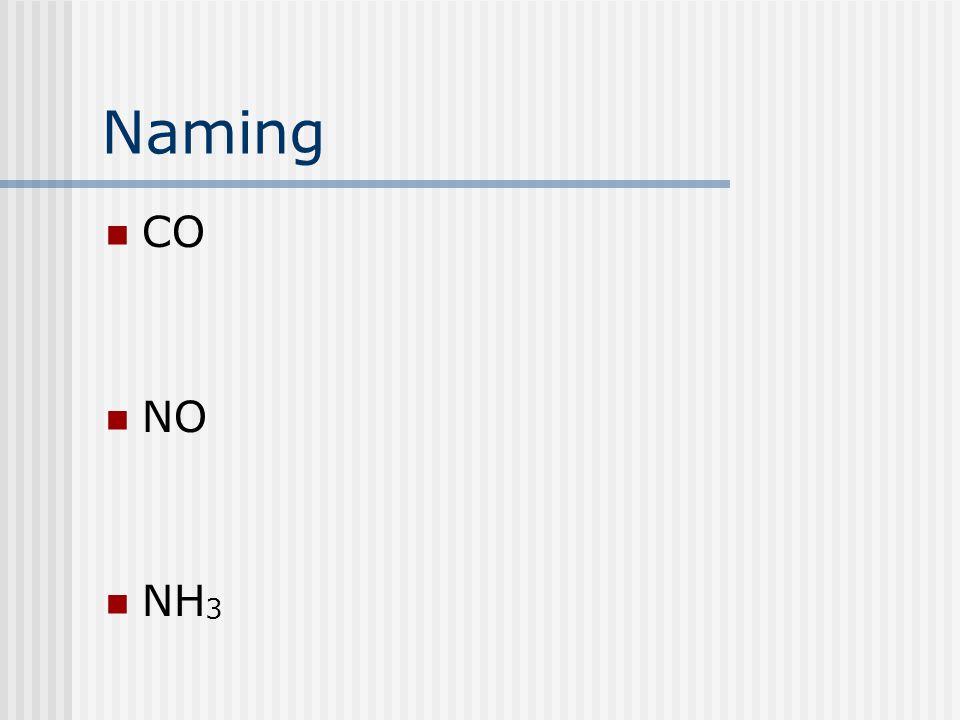 Naming CO NO NH 3