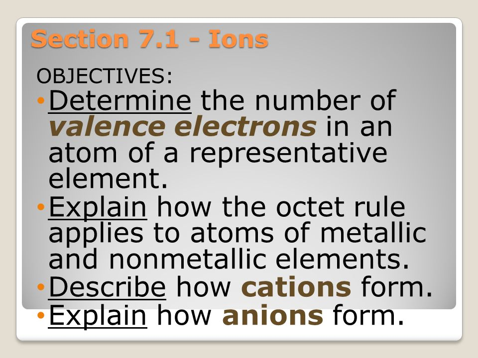 Electron Dots For Cations Let's look at Silver, atomic #47.