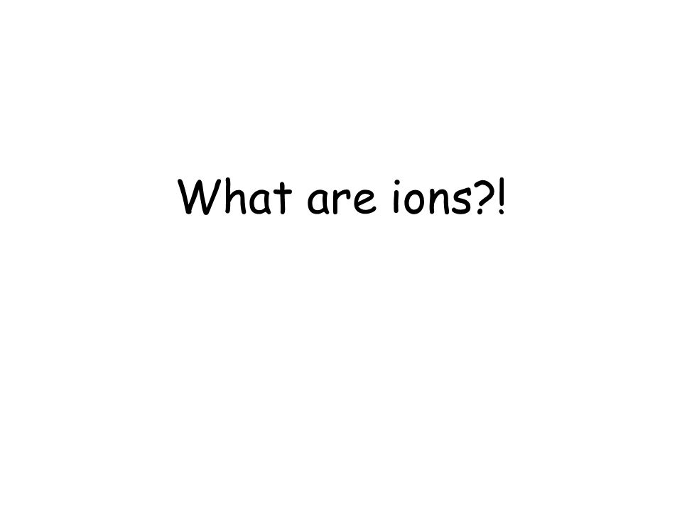 What are ions !