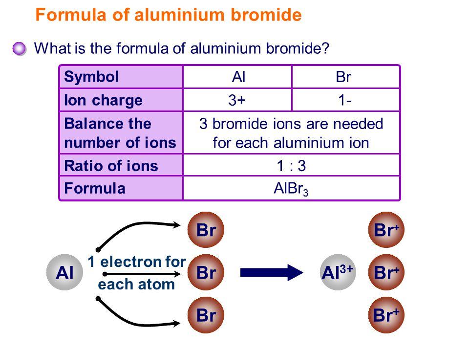 Formula of aluminium bromide What is the formula of aluminium bromide.