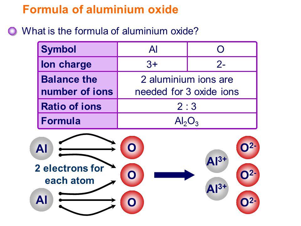 Formula of aluminium oxide What is the formula of aluminium oxide.