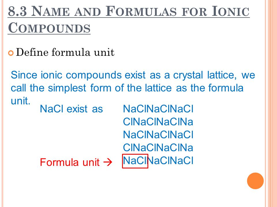 8.2 T HE F ORMATION & N ATURE OF I ONIC B ONDS Energy and the ionic bond How does the charge affect lattice energy.